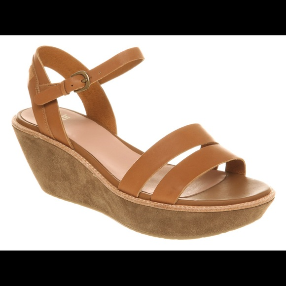 Womens Camper Damas Brown Leather Platform Wedge Sandals Sz Size